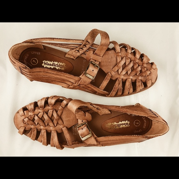 1272257c7fcc1 Vintage Woven Leather Huarache Sandals Sz 7. M 5a88ca3345b30c4f456cdbc2